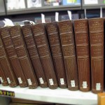 row of encyclopedia style books titles The North American Indian, 12 books in all