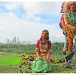 Indians on Tour: Broadview Avenue, Riverdale Park, Toronto, Ontario